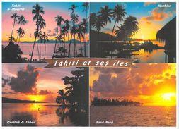 Polynésie Française Couchers De Soleil Sur Les Ses îles  De Polynésie Sunset (arbres) (T.SYLVAIN 967 Tahiti )*PRIX FIXE - Polynésie Française