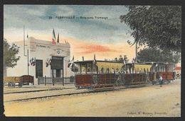 FERRYVILLE Colorisée Gare Avec Tramways (Manson) Tunisie - Tunisia