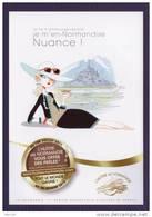 Carte Recette De Cuisine Huitres Chaudes, Normandie, Mont Saint-Michel, Pin-up, Chapeau, Lunettes, Oysters, - Recettes (cuisine)