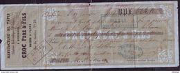 Bulletin De Paiement Manufacture De Tapis Croc Père Et Fils - 19 Janvier 1860 - Paris (G 102) - 1853-1860 Napoleon III