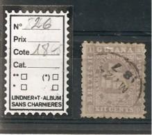 GUIANA / N° 26  XII Cents  OBLITERE - British Guiana (...-1966)