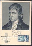 "FR - Carte Maximum ""Philippe Lebon"" Cachet Premier Jour Brachay 5 Mars 1955 - TB - - Maximum Cards"