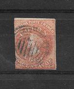 CHILE CHILI AÑOS 1856-1866 YVERT NR. 5 OBLITERE COLON O DE COLON GRUESA VOIR SCAN - Chile