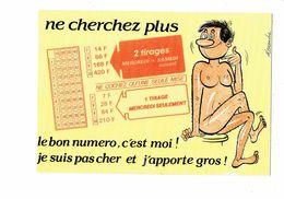 Cpm - Humour Illustration Alexandre Tiercé Homme Nu Grille Tirage - Série Jeux 951/4 Lyna - Humour