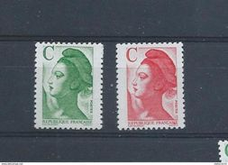 Timbres  FRANCE 1990 Yvert 2615 à 2616 ** - Marianne Du Bicentenaire Avec Lettre C Neufs - France