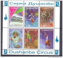 2004. Tajikistan, Dushanbe Circus, S/s Perforated, Mint/** - Tadschikistan