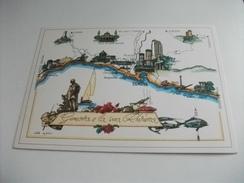 GENOVA E LA SUA RIVIERA  DA ARENZANO A NERVI PORTI E COSTE ITALIA NAVIGAZIONE GENOVA LIGURIA - Cartes Géographiques