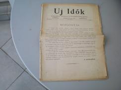 Hungary Uj Idok Szekeszti Herczeg Ferenc 1914 - Zeitungen & Zeitschriften