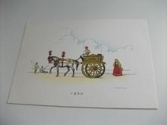 ILLUSTRATORE VEDI FIRMA NICOULINE  1856 SICILIA   LE CARROZZE SERIE PRIMA - Altri