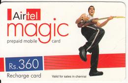 INDIA - Musician, Airtel Magic Recharge Card Rs.360, Used - India