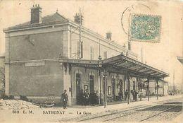 A-17. 7747  :   LIGNE DE CHEMIN DE FER. GARE. SATHONAY - Frankrijk