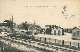A-17. 7751  :  LIGNE DE CHEMIN DE FER. GARE. . AMBERIEU EN BUGEY. - France