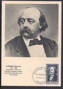 "FR - Carte Maximum ""Gustave Flaubert"" Cachet Premier Jour Rouen 18 Oct.1952 - TB - - 1950-59"