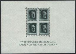 Deutsches Reich Block 7 Postfrisch, Haftspur Auf Blockrand Re. Unten K2-135 - Deutschland