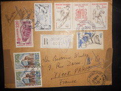 Andorre Français Lettre D Ordino 1987 Pour Paris , Joli Affranchissement - Covers & Documents