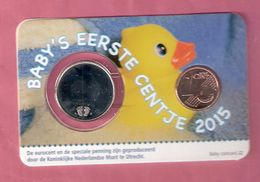 NEDERLAND COINCARD BABY JONGEN 2015 BADEENDJE - Pays-Bas