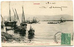 INDOCHINE CARTE POSTALE DEPART TOURANE 20 JANV 07 ANNAM POUR LA FRANCE - Postales