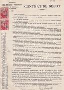 FLOREFFE-CINEY-CONTRAT DE DEPOT-MAISON-ED.HENRY-VRITHOFF-VINS ET SPIRITUEUX+LEON RAQUET-DATE-1934-BON ETAT - Documents Historiques