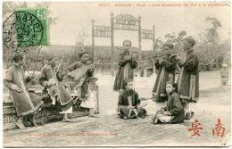 INDOCHINE CARTE POSTALE AVEC OBLITERATION HANOI ? OCT 05 TONKIN - Postales