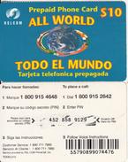 DOMINICANA  - Todo El Mundo, RSLcom Prepaid Card $10, Used - Dominicana