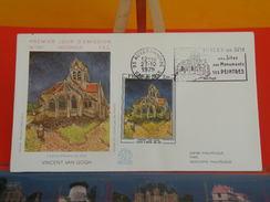 Coté 11€ - Vincent Van Gogh, L'église - 27.10.1979 - 95 Auvers Sur Oise - FDC 1er Jour & Flamme - FDC