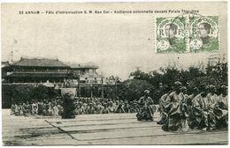 INDOCHINE CARTE POSTALE DEPART HUE 5-2-27 ANNAM POUR LA FRANCE - Postales