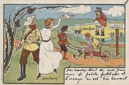 CPA - ILLUSTRATEUR LADY SMITH - Circulé 1900 - Satiriques