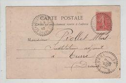Généalogie Albert Piollet Instituteur Eurre 1903 Carte Postale écrite De Omblèze - Alte Papiere
