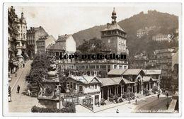 Karlsbad, Marktbrunnen Und Schlossberg, Alte Foto Postkarte 1935 - Tchéquie