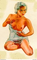 STICKER EROTIQUE PIN UP GIRLS EROTICA SEMINUDE CALCOMANIA AUTOCOLLANTE CIRCA 1950 ZTU. - Sammelbilder, Sticker