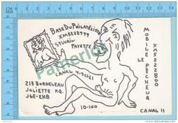 Joliette Quebec Canada - Sexy QSL  - Base Du Philateliste Mobile Le Pêcheur  - Carte Postale 2 Scans - CB