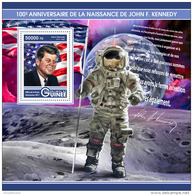 GUINEA REP. 2017 ** Space Raumfahrt Espace John F. Kennedy JFK S/S - OFFICIAL ISSUE - DH1725 - Africa
