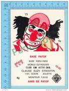 """Joliette Quebec Canada - QSL - Base Patof """"clown"""" & Mobile Outaouais -  Carete Postale - 2 Scans - CB"""