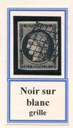 FRANCE- Y&T N°3- Oblitération Grille (très Beau!!!) - 1849-1850 Cérès