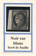 FRANCE- Y&T N°3- Bord De Feuille- Oblitération Grille (très Beau Et Rare!!!!) - 1849-1850 Cérès