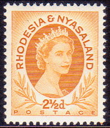 RHODESIA & NYASALAND 1956 SG #3a 2½d MNH - Rhodesia & Nyasaland (1954-1963)