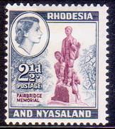 RHODESIA & NYASALAND 1959 SG #21 2½d MH Fairbridge Memorial - Rhodesia & Nyasaland (1954-1963)