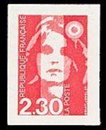 Timbre 2630 France 1990 Marianne Du Bicentenaire Ou Briat 2,30 F Rouge Provenant De Carnet Autoadhésif Non Dentelé - France
