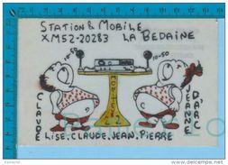 """Joliette Quebec  """" QSL La Bedaine """" Carte Postale Post Card 2 Scans - CB"""