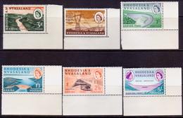 RHODESIA & NYASALAND 1960 SG #32-37 Compl.set MNH CV £20 Kariba Scheme Corner Margins! - Rhodesia & Nyasaland (1954-1963)