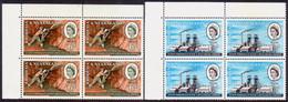 RHODESIA & NYASALAND 1961 SG #38-39 Compl.set In Corner Block Of Four MNH Mining & Metallurgical Congress - Rhodesia & Nyasaland (1954-1963)