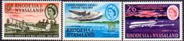 RHODESIA & NYASALAND 1962 SG #40-42 Compl.set MNH 30th Anniv Of First London-Rhodesia Airmail Service - Rhodesia & Nyasaland (1954-1963)