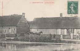 CPA 27 FRANCHEVILLE  LA GRANDE MARE ANIMEE ATTELAGE - France