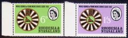 RHODESIA & NYASALAND 1963 SG #48-49 Compl.set MNH Young Men's Service Clubs - Rhodesia & Nyasaland (1954-1963)