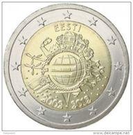 """Pièce Commémorative 2 Euros  Estonie  2012 """" 10 Ans De L' Euro """" - Estonie"""