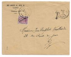 TX 20  Albert I 20ct + T  Gand  11. IV. 1919    ( Envelop Lichte Plooi ) Postzegel Is Intact !   Cat 42 Euro - 1915-1920 Albert I