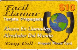 DOMINICANA  - Facil Llamar, RSLcom Prepaid Card $10, Used - Dominicana