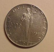 100 LIRE DEL VATICANO 1958 DI PIO XII° - - Vaticano (Ciudad Del)