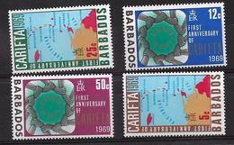 EDY 602 - BARBADOS 1969 , 4 Valori Integri  ***  CARIFTA - Barbados (1966-...)