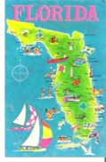 Greetings From Florida, Sunshine State  Map - Vereinigte Staaten